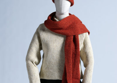 E.Salmonson_donegal wool scarf_hunting orange